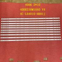 10 pcs/lot LED backlight Strip for TCL 40S6500FS 40S6500 40F6F 40L2F 40D6 10X2 40HR330M10A0 V4 4C-LB4010-HR01J