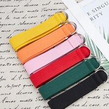 Ladies color tightening belt fashion woven models canvas belt jeans lazy waist belt dress fashion de