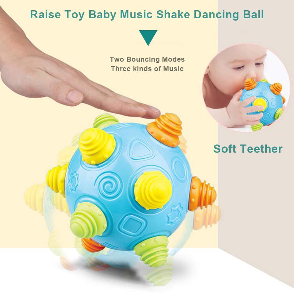 Лидер продаж, детские развивающие игрушки для просвещения, детский музыкальный Вибрационный танцевальный шар, прыгающий шар, вибрационная ...