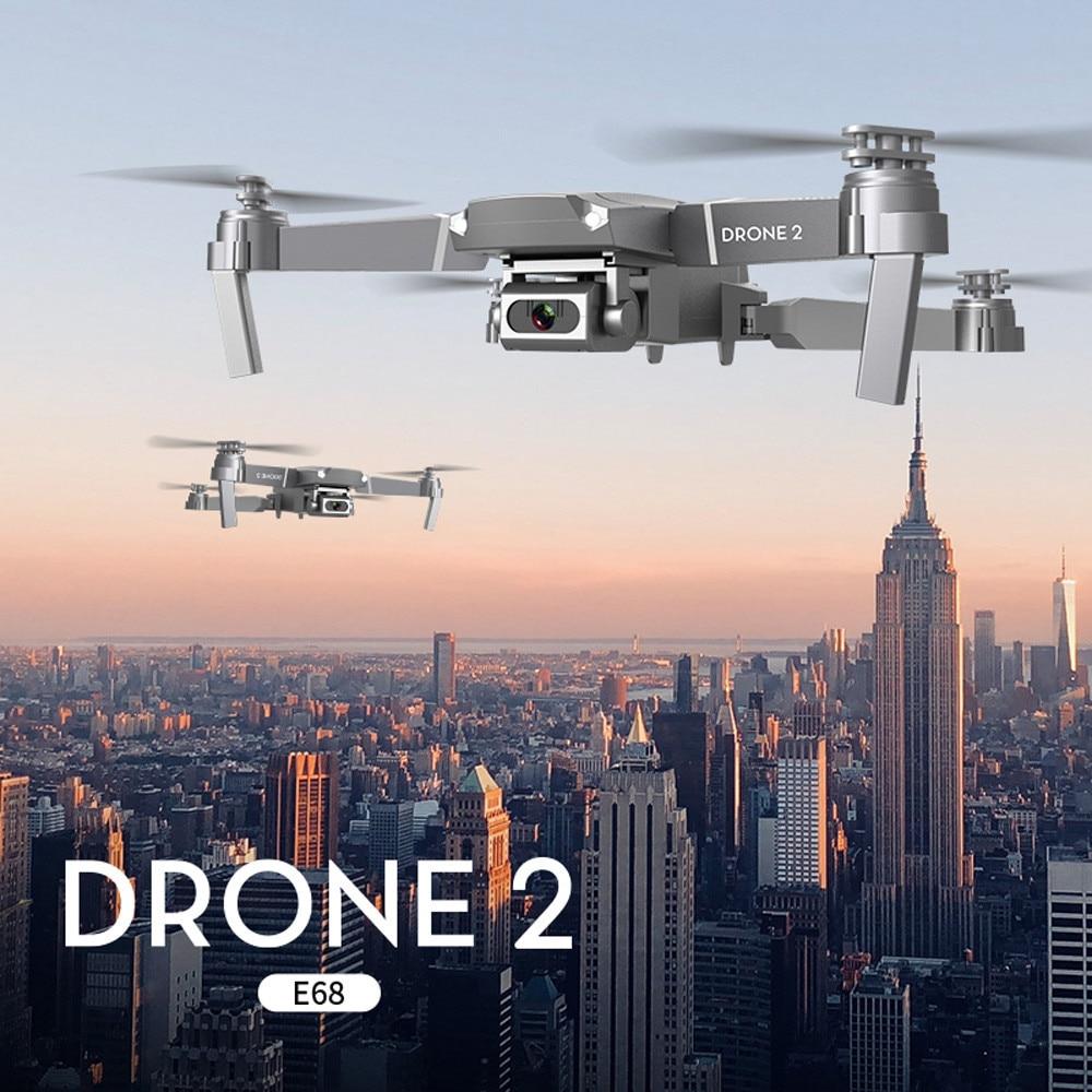 WiFi FPV RC Drone 2 aire de presión de altura fija plegable Drone 1080P HD Cámara plegable RC Quadcopter RTF Ircraft Quadrocopter Juguetes