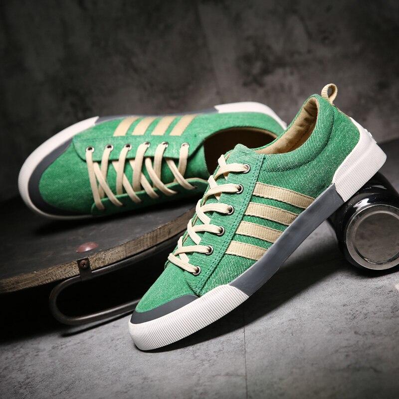 2020 New Classics Skateboarding Shoes Men luxury shoes men Sneakers Soft Breathable Lace Up green Sport Shoes Men canvas flats