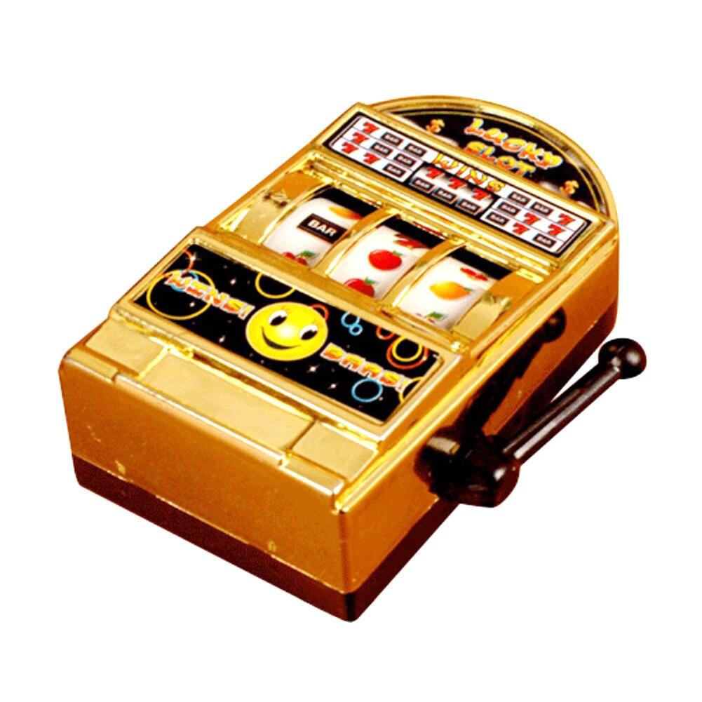 Jugando caja de dinero gracioso de descompresión niños juguete divertido de escritorio máquina de ranura de no-tóxicos Mini juego