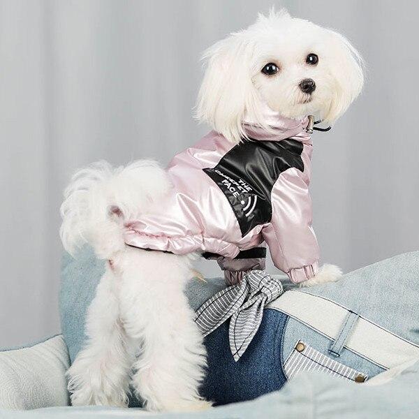 Paw Tex 패션 패딩 짙은 겨울 개 옷 개 코트 자켓 후드 반짝이 애완 동물 겉옷 pupreme Dog