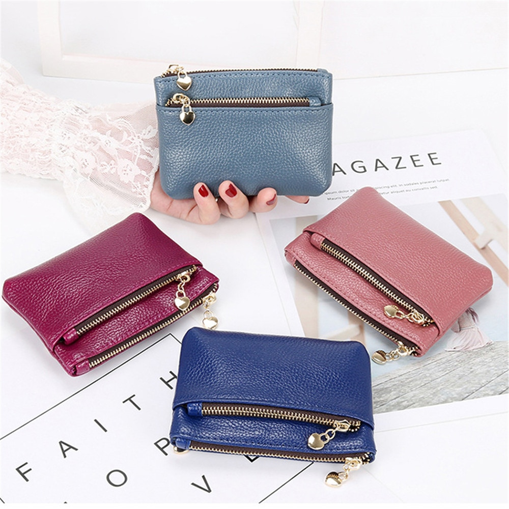 2021 Fashion PU Leather Coin Purse Women Mini Change Purses Kids Coin Pocket Wallets Card Holder Zip