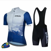 custom summer new mens solid color short sleeve fast dry breathable cycling suit outdoor sports mountain men bike cycling suit