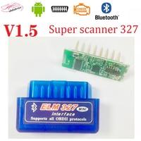 Автомобильный считыватель кодов Super V1.5 elm327, автомобильный инструмент, Bluetooth OBD2 автомобильный сканер ELM 327 Bluetooth 4,0 для Android/Symbian phone ELM327