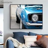 Toile dart mural personnalise avec   Muscle Cars   americain  affiche de peinture imprimee  image  decoration de salon   20-1005-42-52