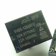 New relay 10pcs/lot  JQC-3FF-5VDC-1ZS JQC-3FF 5VDC-1ZS  HF3FF-005-1ZS JQC3FF  5VDC1ZS 10A 5PIN