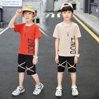 boys clothing sets summer boys clothes casual outfit t shirt pants kids tracksuit teen children clothing suit 6 8 9 10 12 year