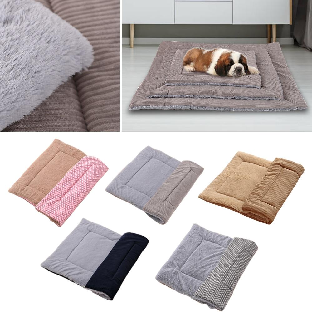 Invierno Thicken Warm Cat perro manta Cama de Gato cama de perro alfombra para mascotas cachorro funda de dormir cojín de toalla para casa de perro pequeña mediana grande