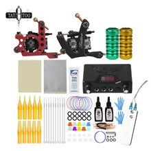 Kit de tatouage complet bobine Machine à tatouer ensemble aiguilles dalimentation tatouage Kit de Machine de tatouage professionnel pour débutant