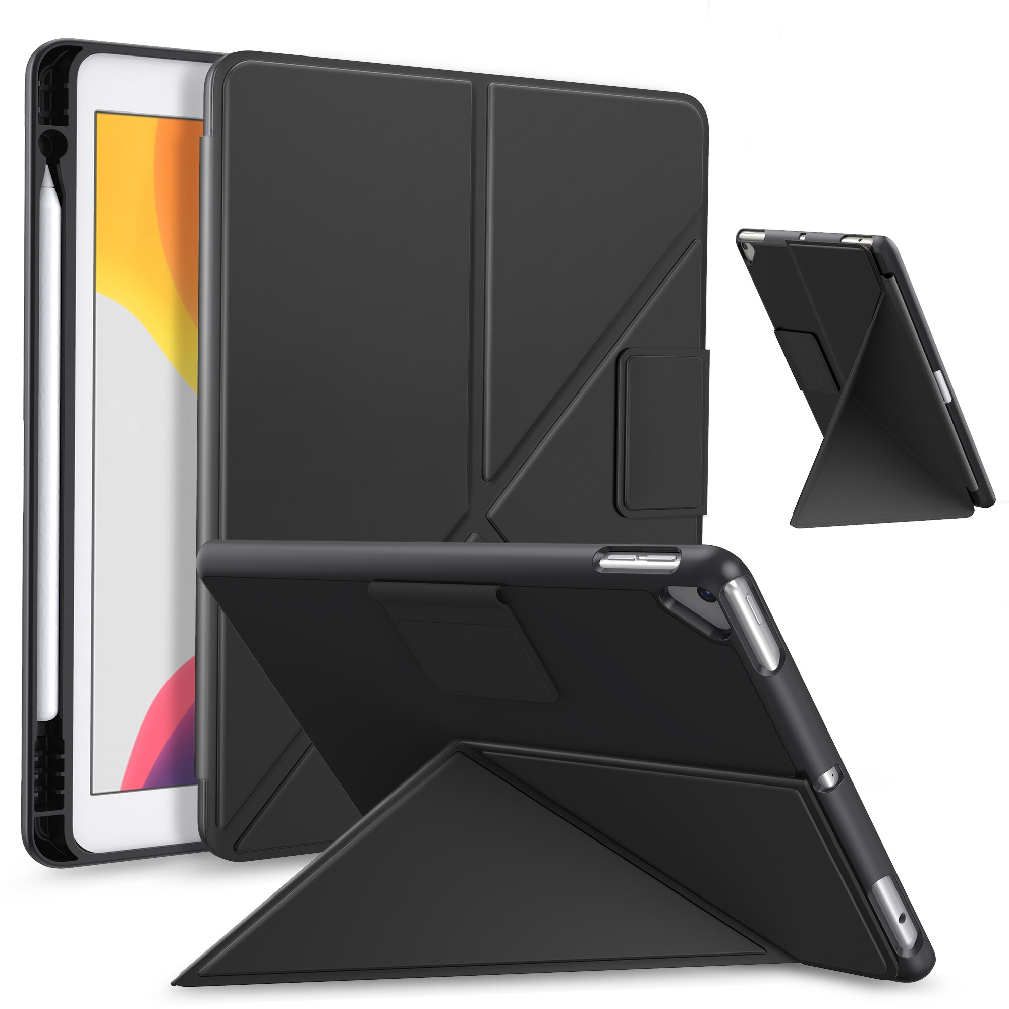 El caso para el iPad 8th generación/iPad 7th Gen 10,2-pulgadas/3 10,5 Origami...
