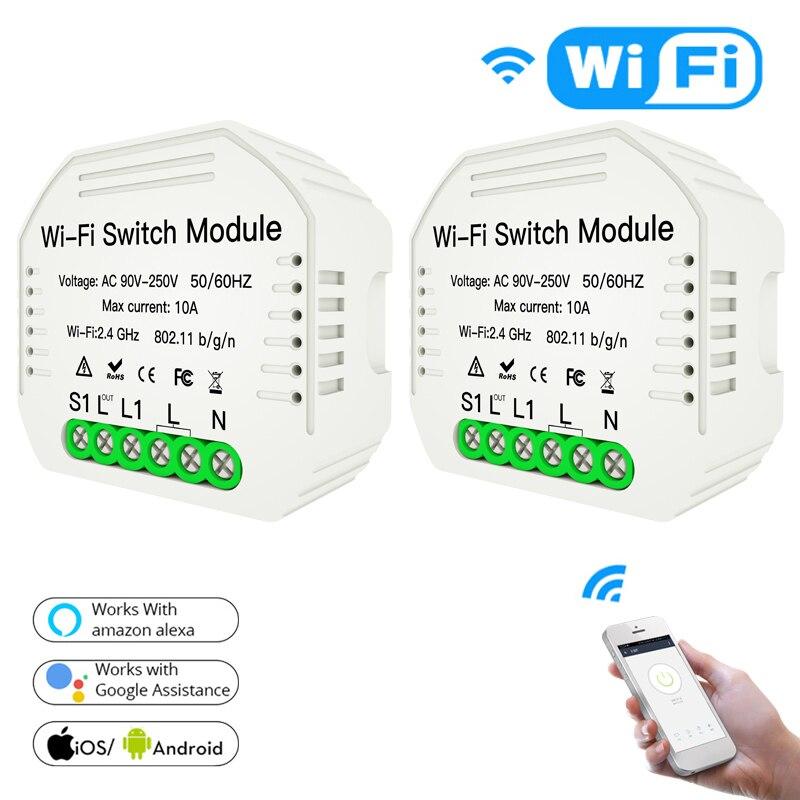Interruptor inteligente módulo de interruptor wi-fi vida inteligente tuya interruptor casa inteligente disjuntor módulo alexa amazon google casa automação