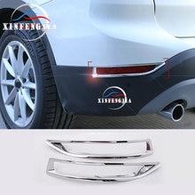 Garniture de cadre pour BMW X1 F48 16-19   2 pièces, garniture de cadre de décoration de feu antibrouillard arrière chromé