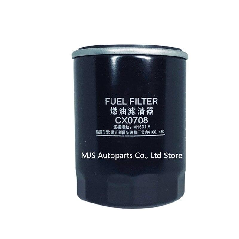 CX0708 CX7085 filtro de combustible para Weichai 4100 4102 con Quanchai QC490T QC495T como para TCM JAC 3 Ton Forklift TF-8868 CX150 filtro