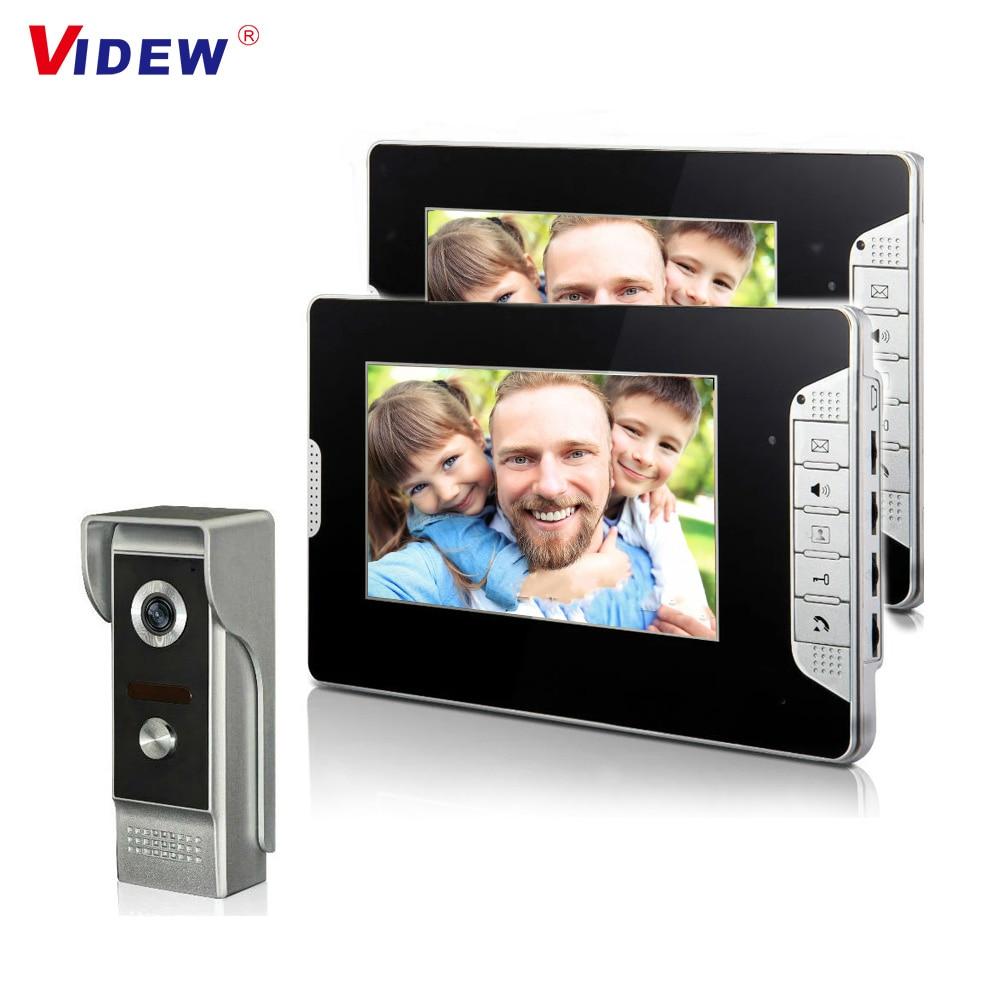7 Inch Video Doorbell Intercom Door Bell with Camera and Monitor Doorphone System Night Vision for Villa Apartment
