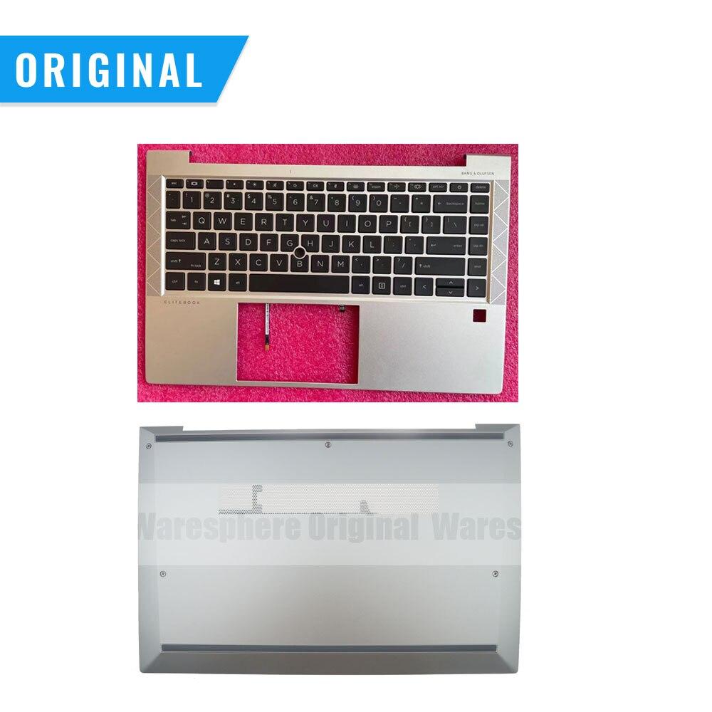 جديد الأصلي Palmrest ل HP بي ELITEBOOK 840 G7 745 G7 مع لوحة المفاتيح أعلى العلوي حالة بوتون قاعدة M07091-001 M07095-001 الشظية لنا