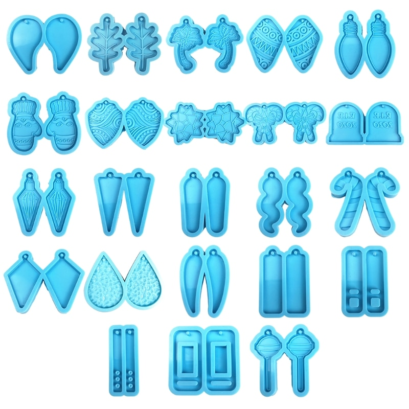 aliexpress.com - Earrings Epoxy Resin Mold Eardrop Dangler Pendant Silicone Mould DIY Crafts Jewelry Casting Tools