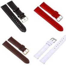 10mm/12mm/14mm/16mm/18mm/20mm/22mm/24mm Men Women Strap Watch Wrist Band Belt Bracelet PU Leather Wa