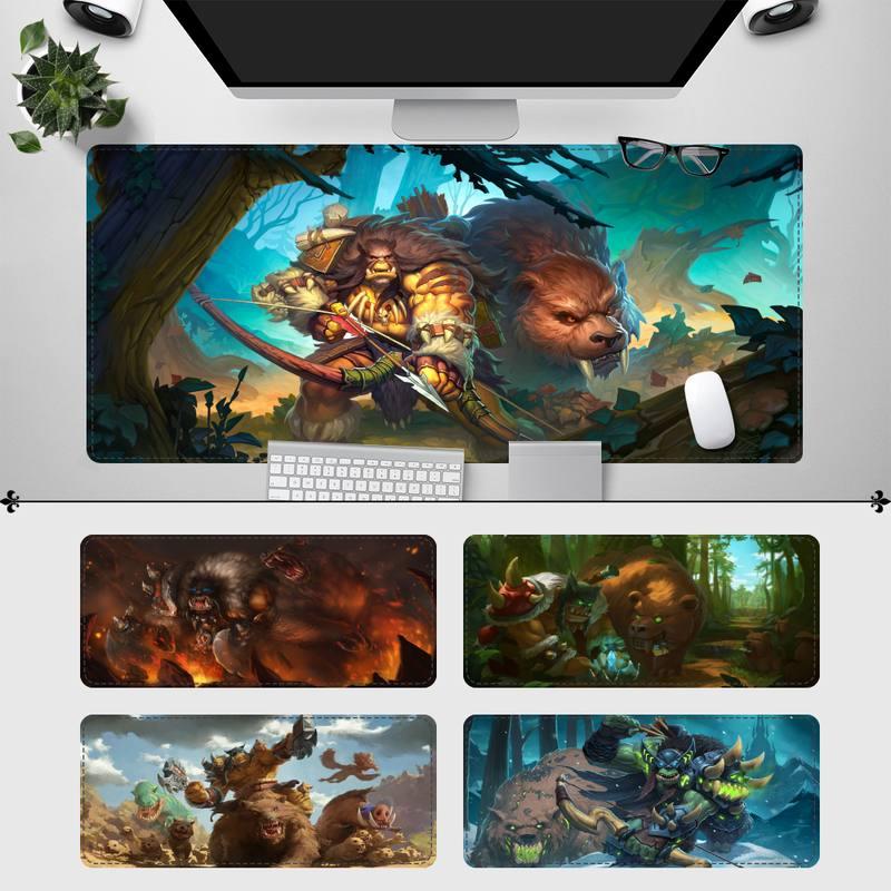 40x90 см Rexxar коврик для мыши, игровой коврик для клавиатуры, Настольный коврик для мыши, игровые аксессуары для Overwatch