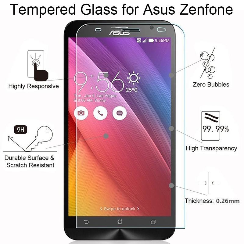 Protector de pantalla para Asus Zenfone 2 Laser 3 Deluxe 3S Max ZE500KL ZE550KL ZE601KL ZC521TL de vidrio en 3 Max ZC520TL ZC553KL ZC551KL