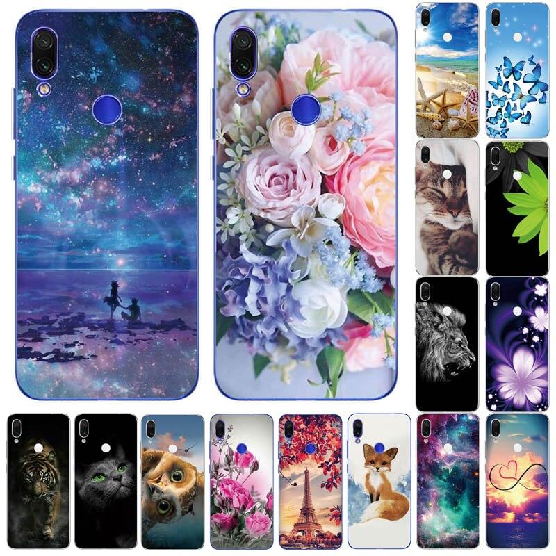 Soft TPU Case For Xiaomi Redmi Note 7 6 Pro 5 Pro Cover Transparent Coque Cute Flowers Animals Cases