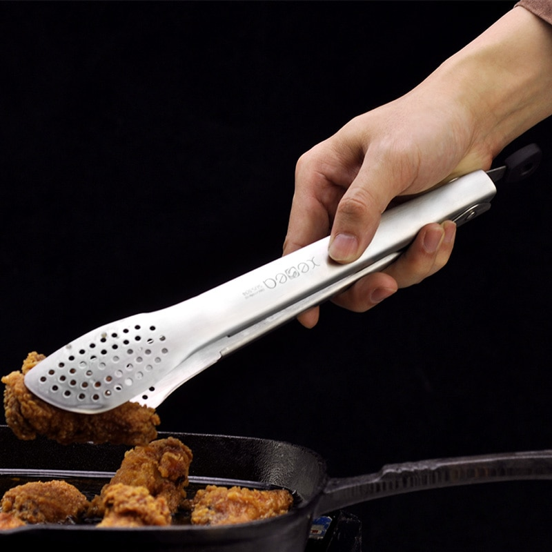 Acessórios de cozinha churrasco tong salada pizza pão bife ferramentas aço inoxidável antiaderente clipe servindo comida tong cozinha ferramentas