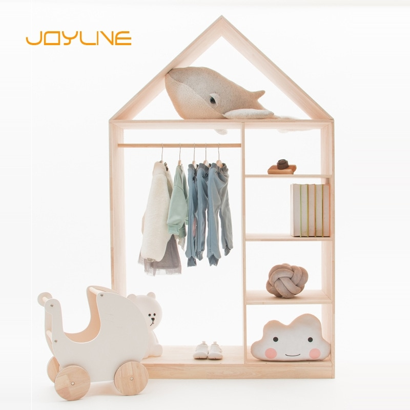 JOYLIVE الشمال نمط Ins خزانة منزل صغير غرفة الأطفال الديكور خزانة ملابس الأطفال متجر نافذة تظهر موقف