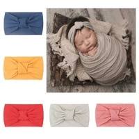 spring autumn baby headband soft elastic cotton baby girl headbands solid color kids knit hair bands baby girls hair accessories