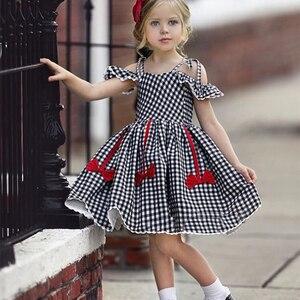 Новое платье для девочек платье принцессы на выход, 2021 Модные Повседневные платья для девочек темно-синего цвета детская одежда в клетку для девочек детская одежда Vestidos/для детей От 2 до 6 лет