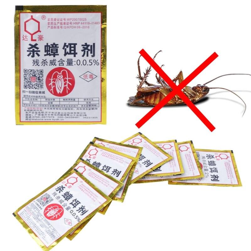 15PCS Cockroach Repellent Trap Poison Pest Portfolio Indoor Family Bug Control Powder 0.05%