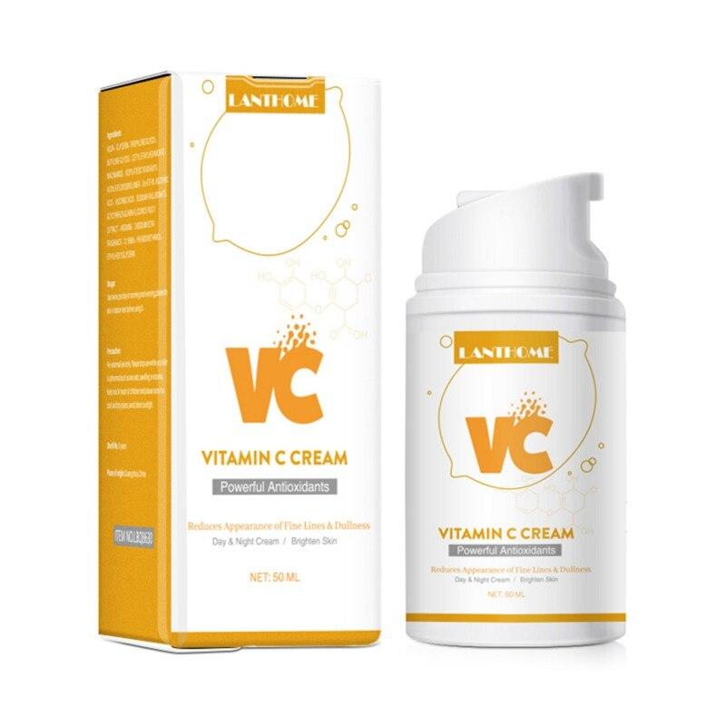 Фото - 50ml Organic Vitamin C Milk Moisturizing Face Cream  Whitening Anti Aging Wrinkles Face Cream Facial Skin Care S1 dermoskin face protection spf 50 sunscreen cream 50ml summer skin care