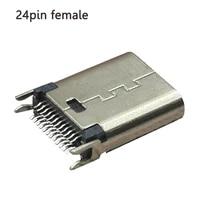 3 6pcs micro usb 3 1 universal 24 pin splint 0 8 length 9 3 full function piece female type c tail jack plug socket connector