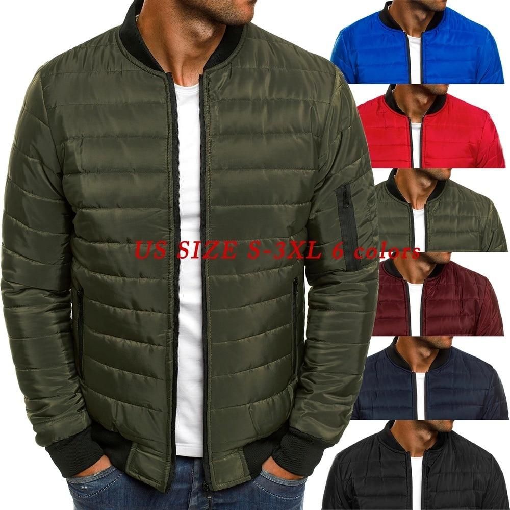 2021 Mens Autumn Jacket Coat Wind Breaker Casual Plaid Men Parka Solid Color Outerwear Winter Jacket