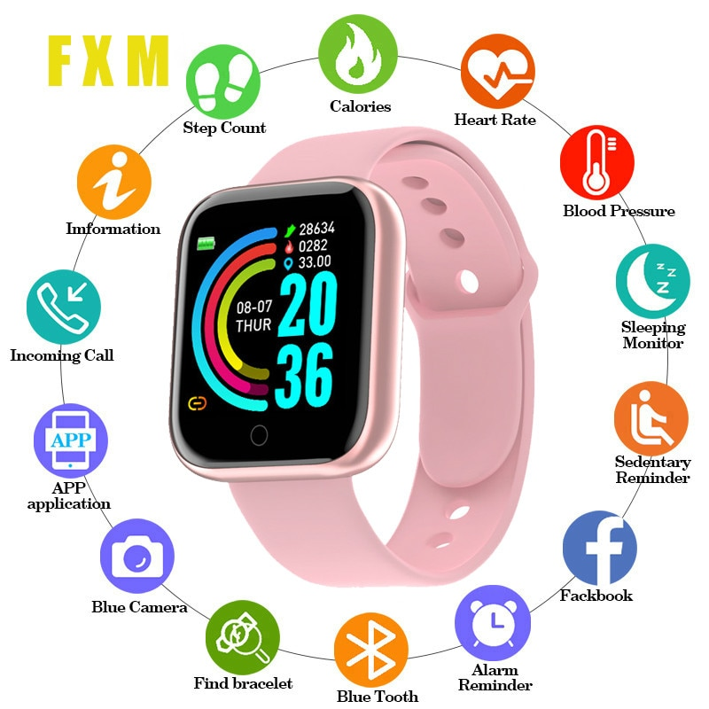Smart Watches For Women Y68 Fitness Bracelet activity tracker heart rate monitor blood pressure Bluetooth watch for ios Android smart bracelet health couple smart band heart rate blood pressure monitor fitness tracker sports watch bluetooth for android ios