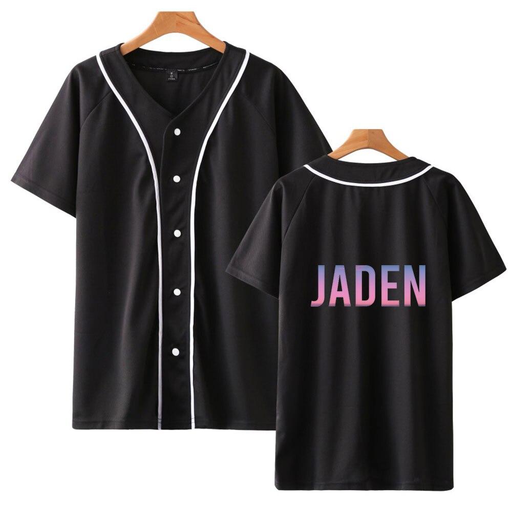 Jaden Smith camisetas de béisbol estampadas de moda para mujer/hombre Camiseta de manga corta de verano 2020 gran oferta ropa informal de calle