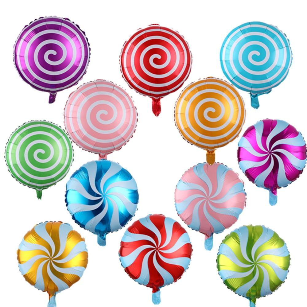 5 шт./лот, 18 дюймов, Круглый фольгированный шарик-леденец, шарик для конфет, шарик для свадьбы, детского дня рождения, украшение