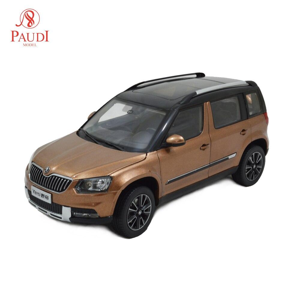 1/18 escala 118 1 18 Skoda Yeti 2013 simulación estática modelo de aleación fundido colecciones de regalos para coche