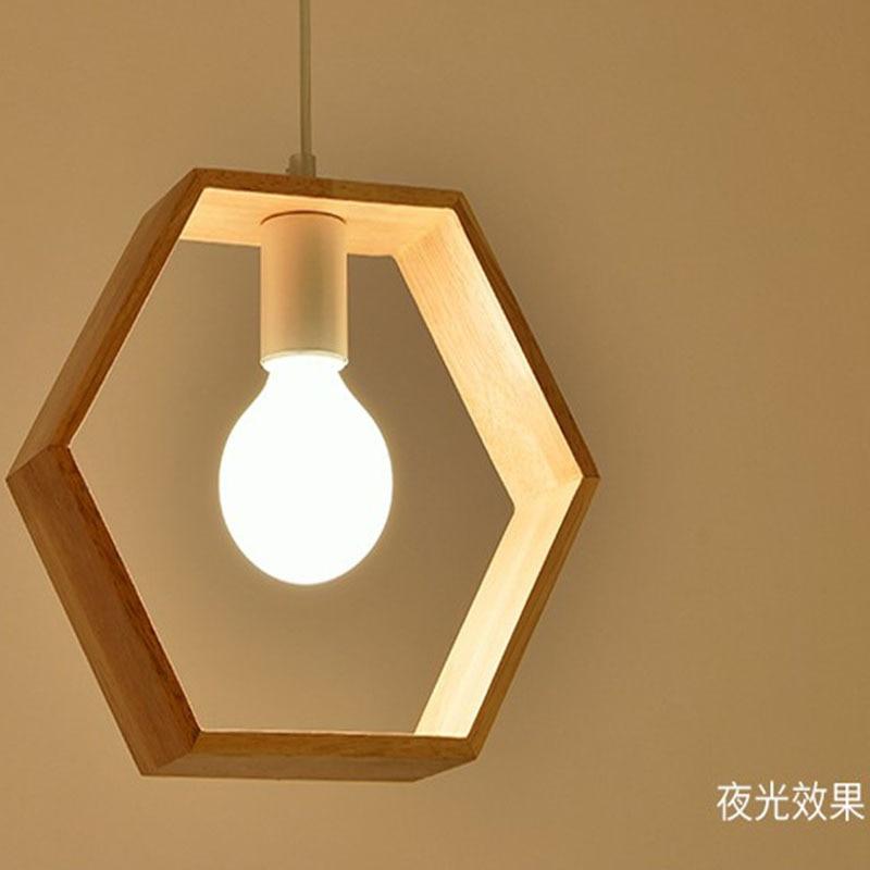 Lámpara de decoración para el hogar, hogar, sala de estar, comedor, producto de una sola cabeza en el sudeste asiático, luz colgante de madera sólida creativa para granja