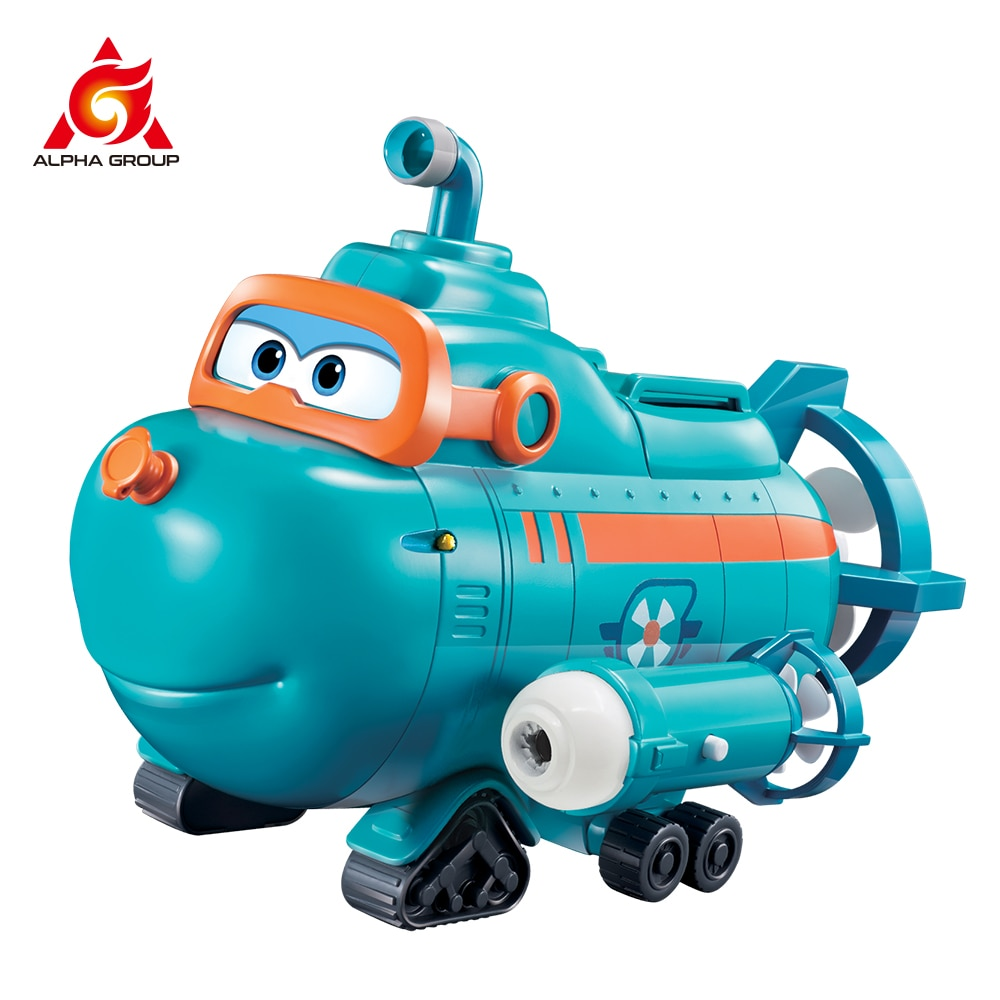 Super Wings Beach Water With Music Kids Toys Wild Team Buddy Submarine Figure Big Playset For Children Birthday Gifts