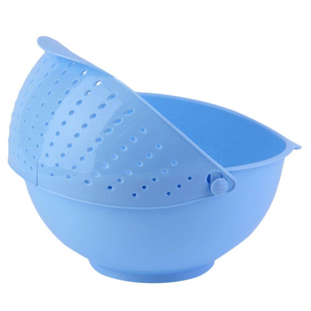 3 in 1 Clamshell Rice Fruit Vegetable Wash Strainer Sieve Kitchen Tool Fruit / Vegetable Bowl