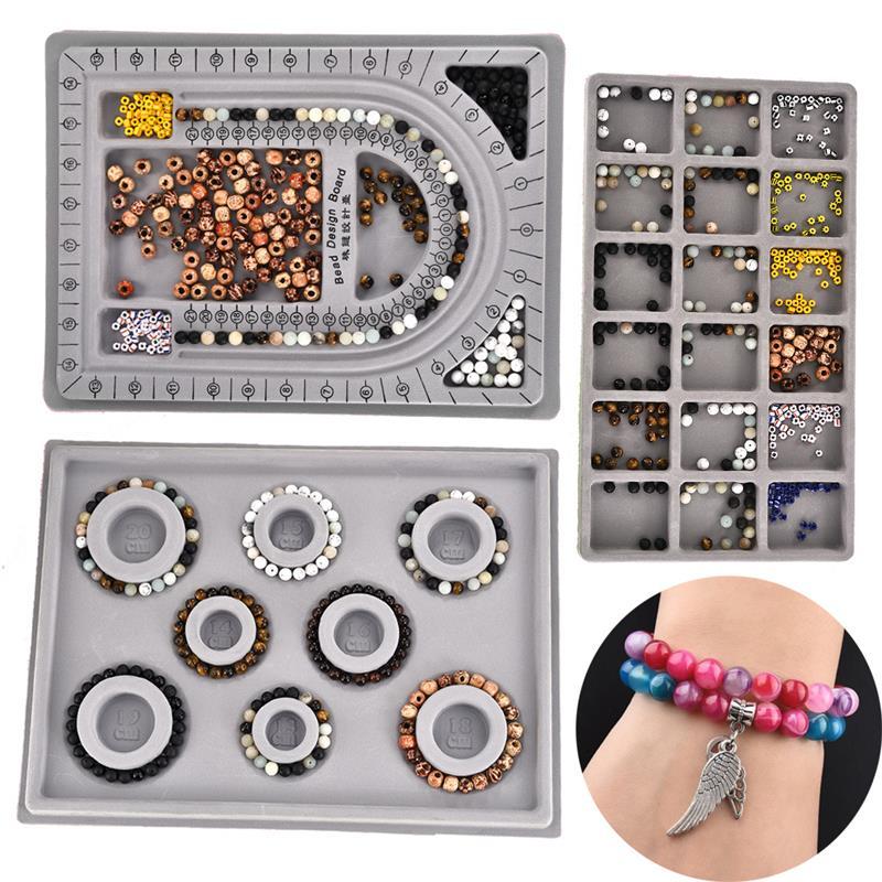 Доска для изготовления бисера из флока, измерительный инструмент «сделай сам» для изготовления браслетов и ожерелий, аксессуары, поднос-ор...