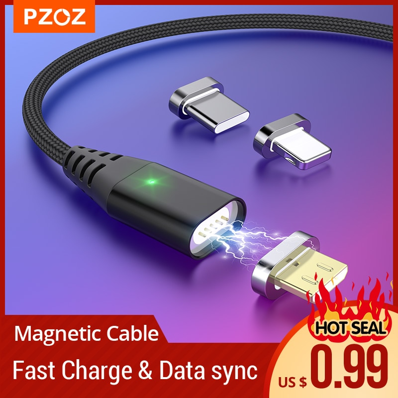 PZOZ Magnetic Cable Fast Charging Micro usb cable Type c Magnet Charger usb c Microusb Wire For ipho