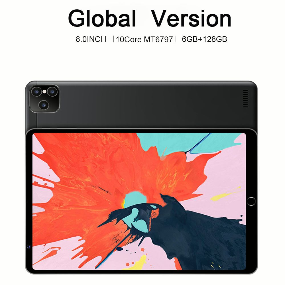 8.0 inch Tablet Android 10.0 Pad 6GB RAM 128GB ROM tablet android Octa Core MTK6797 tablets 5G tablette GPS Wifi Tablet PC enlarge