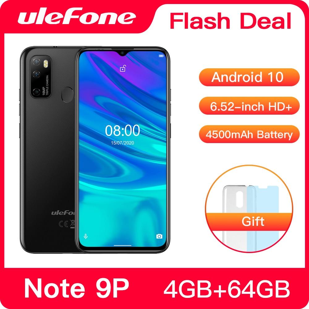 Ulefone-Smartphone Note 9P, Android 10, 4GB + 64GB, pantalla gota de agua...