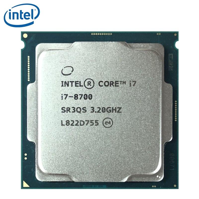 إنتل كور i7-8700 i7 8700 3.2GHz ستة النواة اثني موضوع وحدة المعالجة المركزية المعالج 12M 65W LGA 1151 اختبار 100% العمل