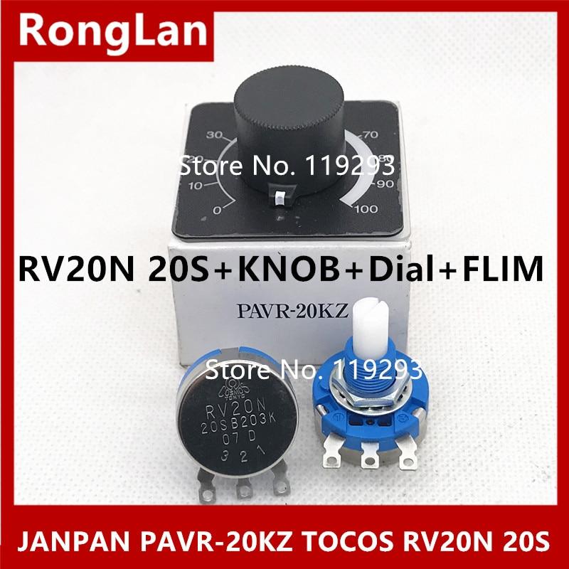 [BELLA] японская Восточная диск потенциометр PAVR-20KZ TOCOS RV20N 20S B203K 20K потенциометр импорта + ручка + циферблат + FLIM--5PCS/лот