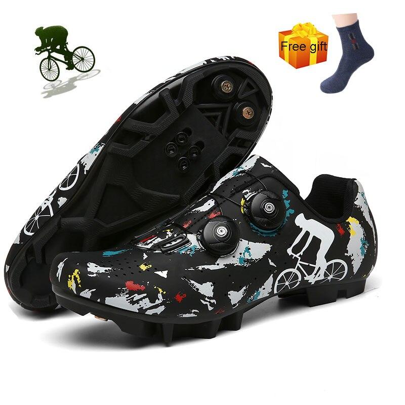 Zapatillas De Ciclismo con autosujeción para hombre, zapatos para bicicleta De montaña, para exteriores, Spd