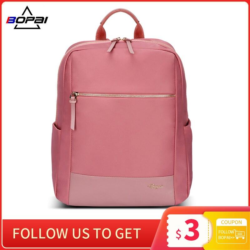 موضة جديدة الوردي المرأة على ظهره مقاوم للماء الإناث 14 بوصة محمول على ظهره حقائب السفر المدرسية للمراهقين الظهر حزمة