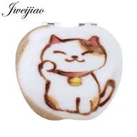youhaken diy cute lucky cat shape coffee grateful winter gift folding purse pu new womens fashion tools mirrors qf299